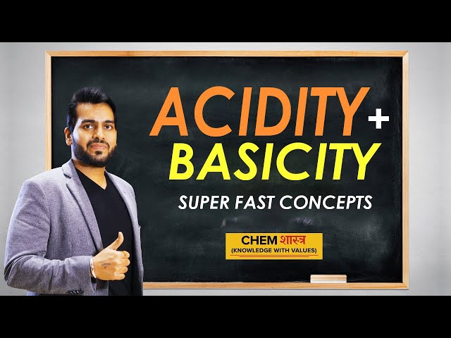 Acidity Basicity | Under Two Minutes | Chemistry Preparation | Chemshastra | Chemistry Class