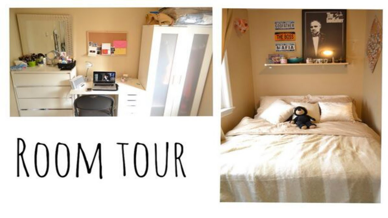 Room tour small bedroom ideas youtube for Bedroom designs for very small rooms
