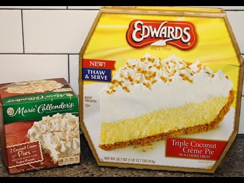 Marie Callender's Coconut Crème Pie vs Edwards Triple Coconut Crème Pie