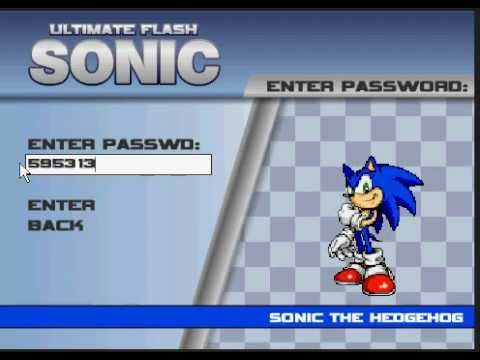 Ultimate Flash Sonic Unlock All Cheats Password Youtube