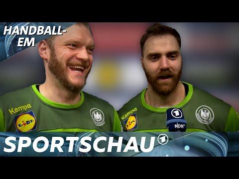 Torwart-Duo hat Spaß - im Spiel gegen Portugal und im Interview | Handball-EM | Sportschau