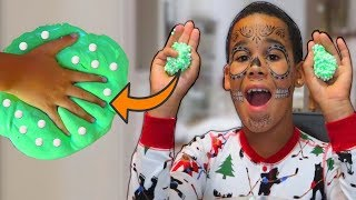 How To Make Green Crunchy Slime | Slime DIY | FamousTubeKIDS
