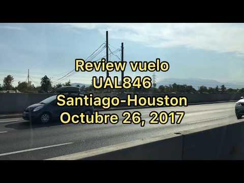 Reporte United Airlines Santiago - Houston economy class