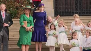 2018年10月12日英國王室尤金妮公主(Princess Eugenie)大婚(AP,美聯社)