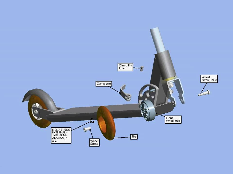 Autodesk Inventor Publisher 2017 Scooter Presentation