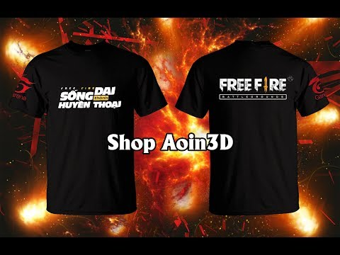 Review áo Free Fire 50k Vs 120k - Shop Aoin3D Áo Game Chất Số 1 VN