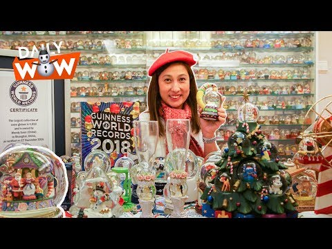 The Largest Snow Globe Collection in the World!
