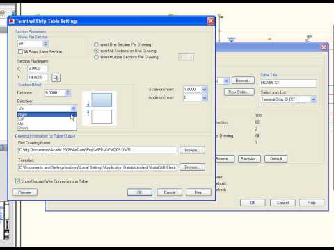 AutoCAD Electrical - Table Generator.wmv