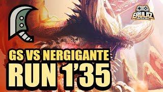 MHW - Nergigante Speedrun 1'35 Great Sword - モンスターハンター:ワールド