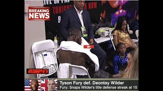 BREAKING NEWS DEONTAY WILDER JAW IS BROKE IN 2 PLACES RUSH TO HOSPITAL FOR SURGERY-WILDER POST FIGHT