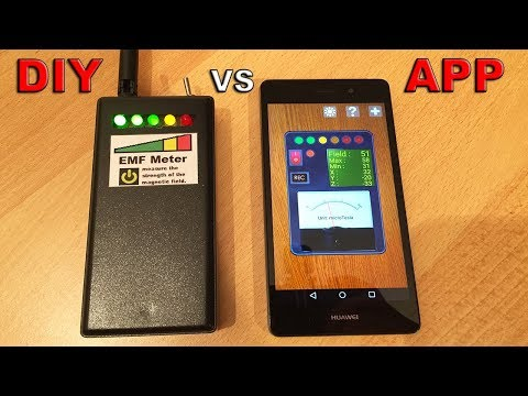 EMF Meter Vs Android App EMF Meter (Testing My DIY Meter Vs An Android App Meter) - By STE