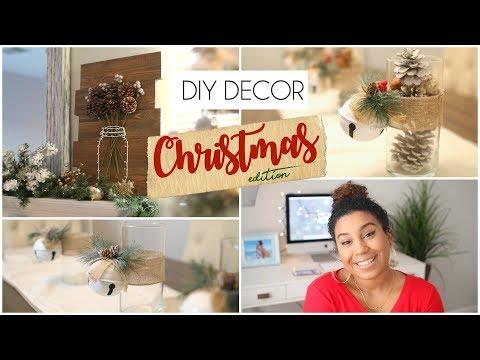 DIY WOOD YARN ART + DOLLAR TREE CHRISTMAS CANDLE HOLDERS