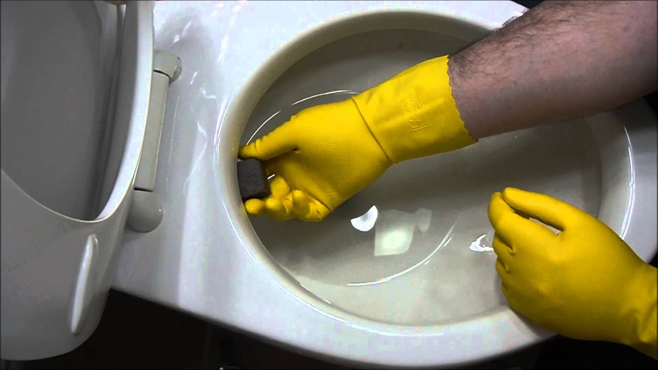 How To Remove Hard Water Stains From Toilet Bowl - YouTube