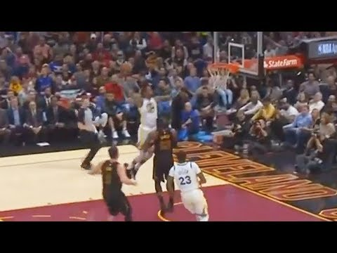 Kevin Durant DUNKS on LeBron James! Warriors vs Cavaliers January 15, 2018