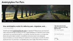 learn about using amitriptyline for pain