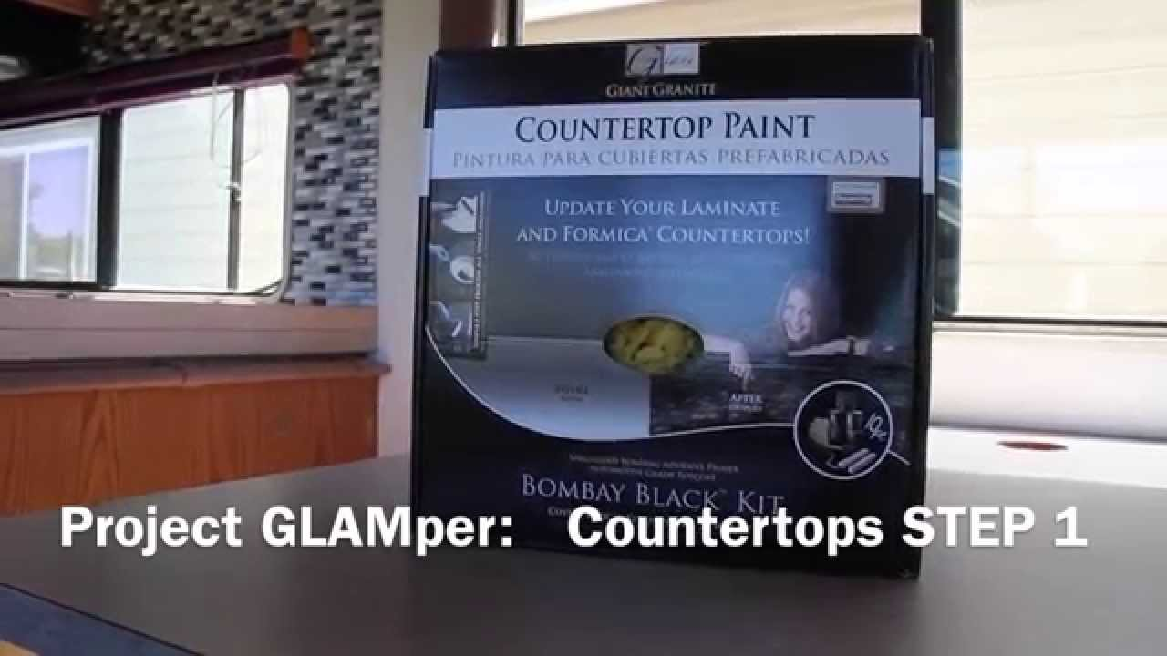 Giani Countertop Paint Youtube : Project GLAMper: Giani Countertop Paint STEP 1/3 - YouTube