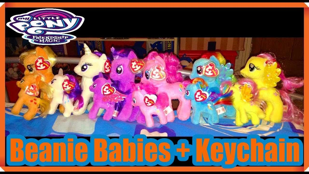 My Little Pony Friendship Is Magic ty Plush   Keychain Set Review ... abd402d39033