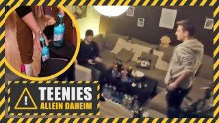 Regelverstoß Hausparty mit Alkohol bei den Minderjährigen  Teenies allein daheim  Kabel Eins