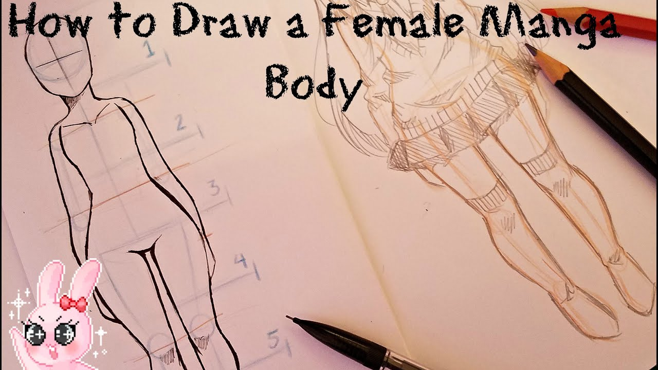 How to Draw A Female Manga Body - YouTube