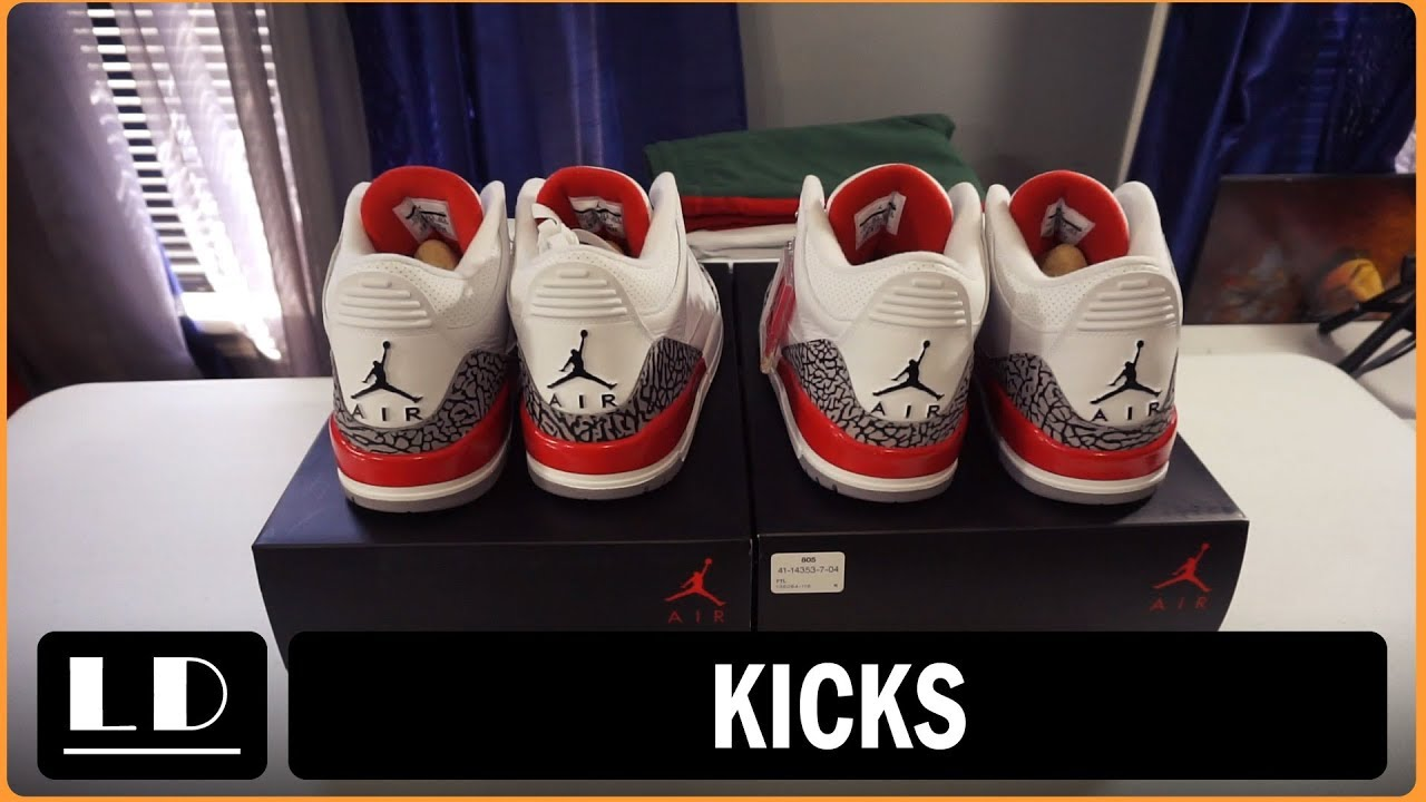b1916e2a25a050 Footlocker quality of Sneakers vs Nike! Air Jordan 3 Katrina for proof of  madness!