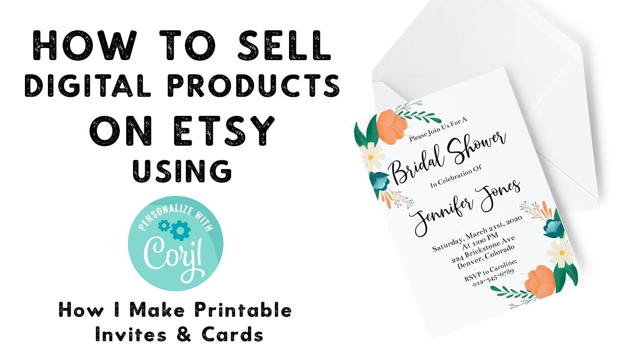 How To Sell Digital Products on Etsy Using Corjl   Passive Income   Sell  Your Art