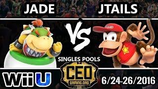 CEO 2016 Smash 4 - Jade (Bowser Jr.) Vs. Circa | Jtails (Diddy Kong) - SSB4 Tournament - Smash Wii U