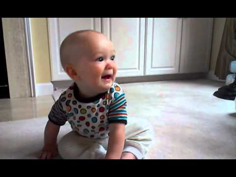 Cute baby sitting up for first time! - YouTube