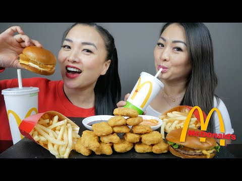 McDonald's Deluxe Cheese Burger, Filet-O-Fish & Chicken Nuggets  | N.E Let's Eat
