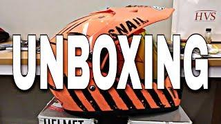 UNBOXING Buka Kotak #Vlog | Snail Helmet | Motopacker | Indonesia | Adventure