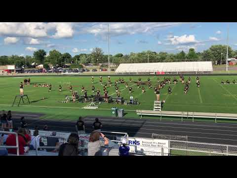 West Carrollton Marching Band 2018 Preview show (Amazed)