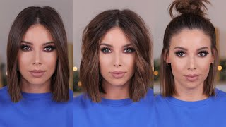 3 EASY WAYS TO STYLE SHORT HAIR