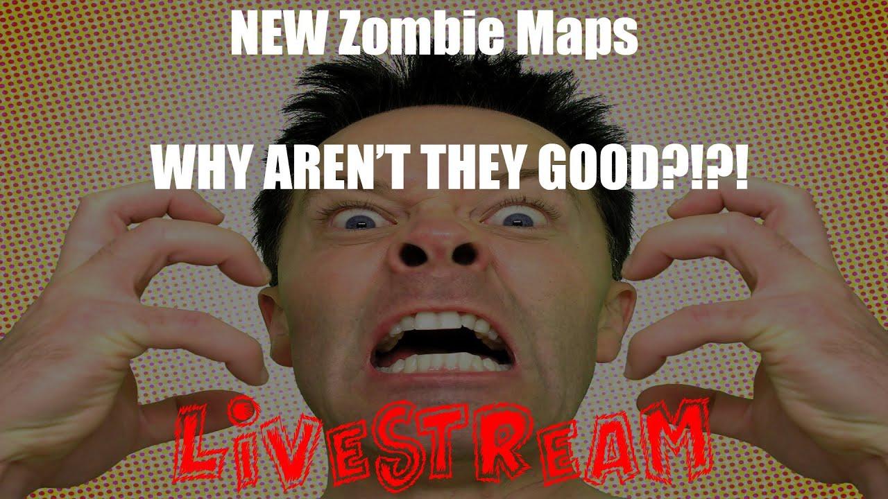 NEW Maps on Zombie Modding | Custom Nazi Zombie Livestream - YouTube