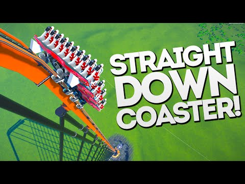 STRAIGHT DOWN MEGA SPEED!! Planet Coaster Gameplay