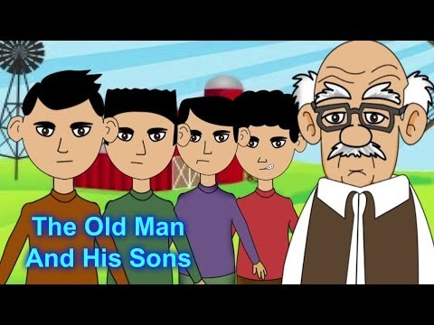 The Old Man And His Sons  Animated Moral Stories & Bedtime Stories For Kids In English