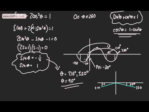 Core 2 - Trigonometrical Identities & Equations (5) - Qudratic equations
