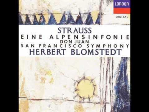 Richard Strauss - Eine Alpensinfonie (An Alpine Symphony) [SFS - Blomstedt]