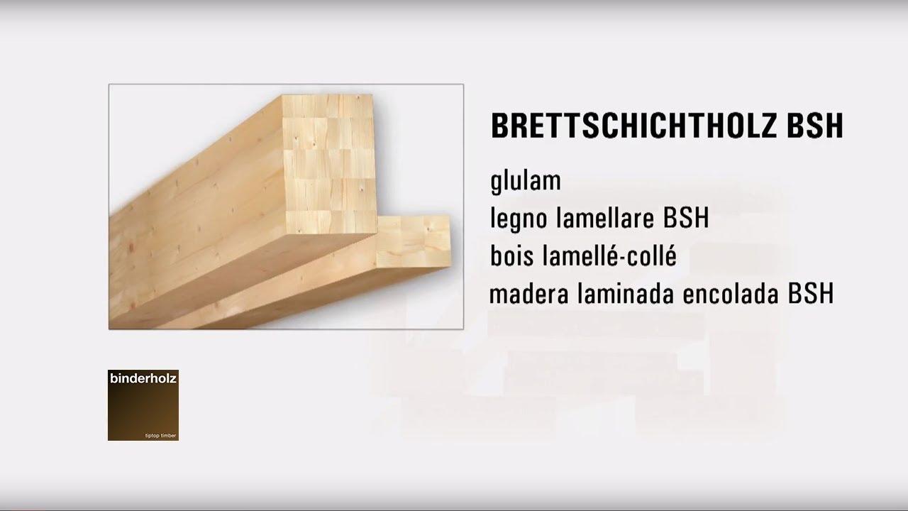Binderholz madera laminada encolada bsh youtube for Madera laminada