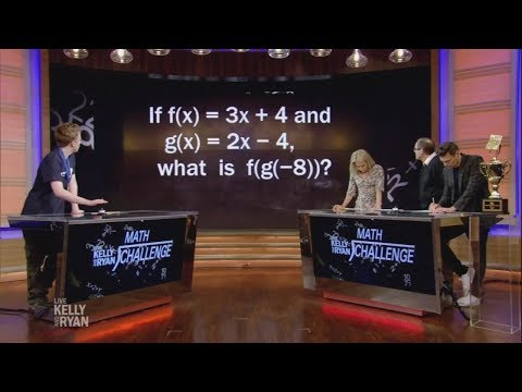 Kelly & Ryan Have a Rematch with Mathcounts Winner Luke Robitaille