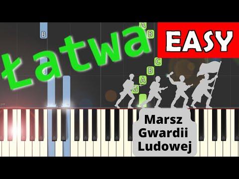 🎹 Marsz Gwardii Ludowej - Piano Tutorial (łatwa wersja) 🎹
