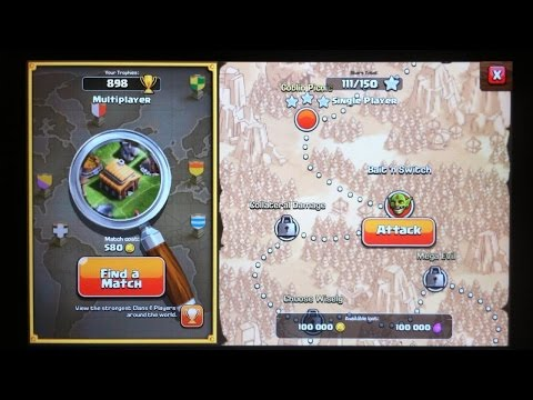 Clash Of Clans Attack Bait'n Switch HD 720p