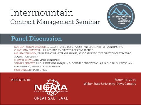 Great Salt Lake NCMA/ICMS Panel Discussion: Successful Contract Performance