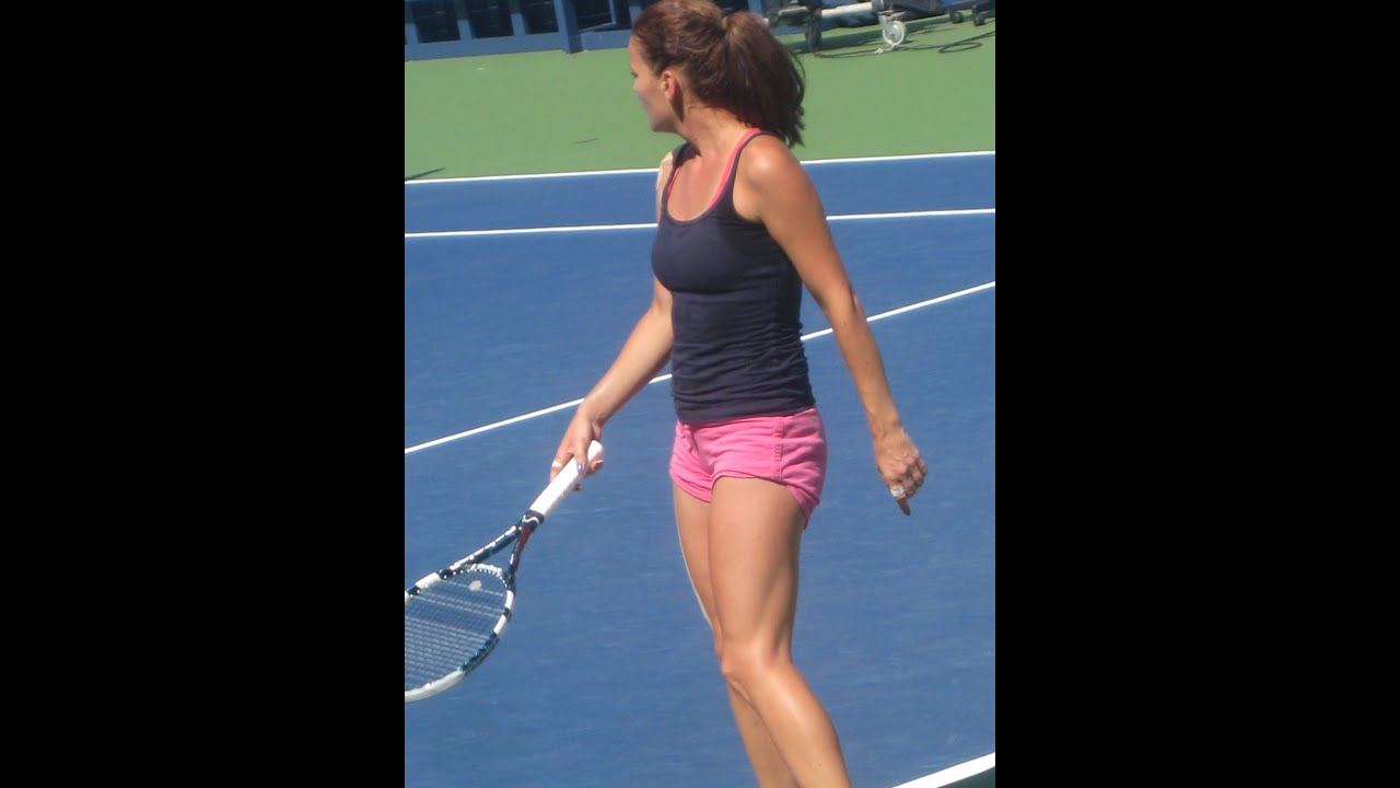 Agnieszka radwanska practice video - 2 part 7