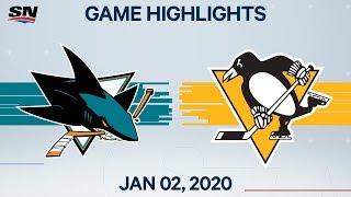 NHL Highlights   Sharks vs. Penguins - Jan. 2, 2020