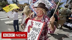 Coronavirus: US protests against and for lockdown restrictions - BBC News