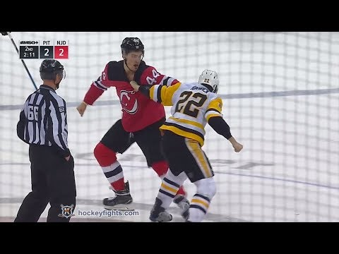 Matt Hunwick vs Miles Wood Mar 29, 2018