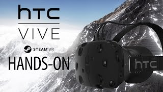HTC VIVE Gameplay Hands-On - Steam VR - Portal VR, Everest VR & Elite Dangerous