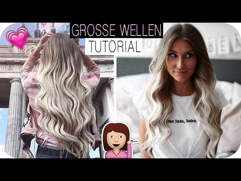 GROSSE LOCKEN / WELLEN HAIR-TUTORIAL - So klappt es mit dem LOCKENSTAB | AnaJohnson