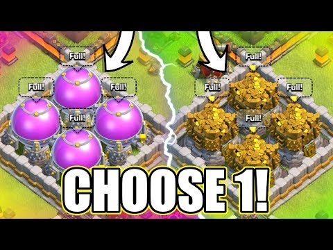YOU CAN ONLY CHOOSE ONE!! - Clash Of Clans - MAX LOOT TEST!