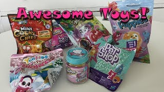 Unboxing Shopkins, Yoohoo & Friends, Glimmies, Ring Pop Puppies, LPS