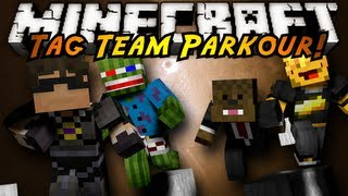 Minecraft: TAG TEAM PARKOUR!